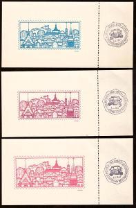 PARDUBICE 1967 - 3 VSTUPENKY NA VÝSTAVU MLADÝCH FILATELISTŮ (S574)