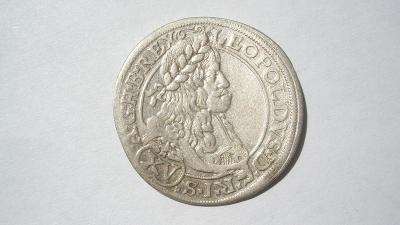 Leopold I. XV krejcar 1664 CA - Vídeň