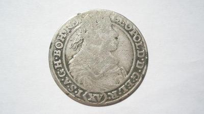 Leopold I. XV krejcar 1662 GH - Vratislav