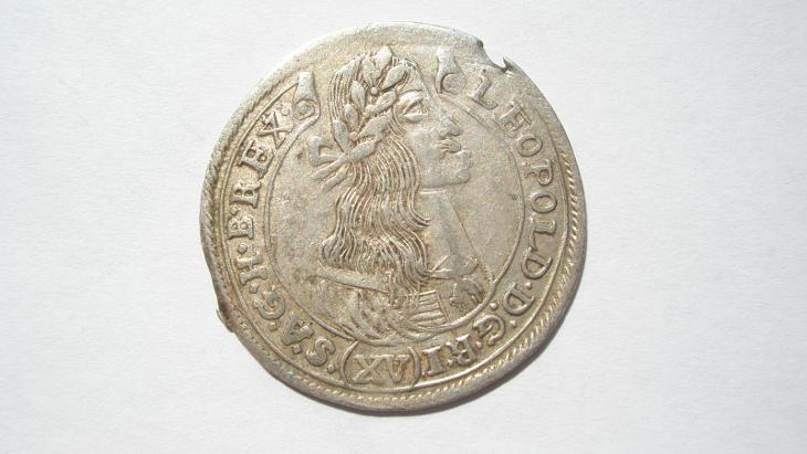 Leopold I. XV krejcar 1677 KB - Numismatika
