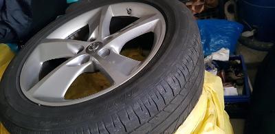 Originál OPEL 18 ALU disky  a letní pneu