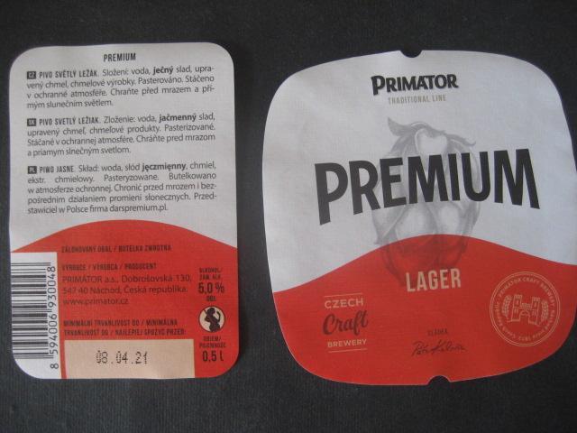 Pivní etiketa Primátor z lahve - Nápojový průmysl