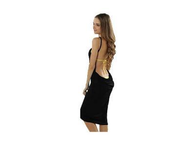 Plážové šaty černé + dárek