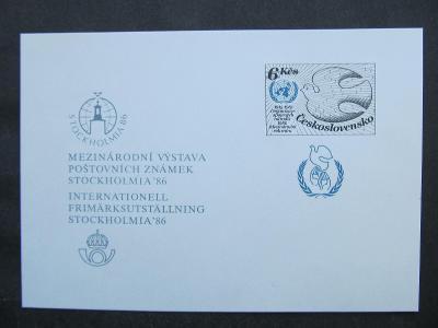 h1804 Příležitostní tisk PT 17 Stockholmia 1986 kat. 150.- kč
