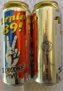 001 SR PIVO piwo bier URPINER Slobodné pivo URPÍN 89 limit 10° prázdna