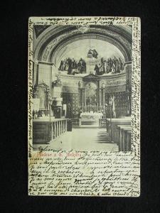 Golčův Jeníkov - Interiér kostela, pr. 1904