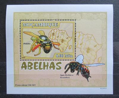 Mosambik 2007 Včely a vosy DELUXE Mi# 2936 Block 2130