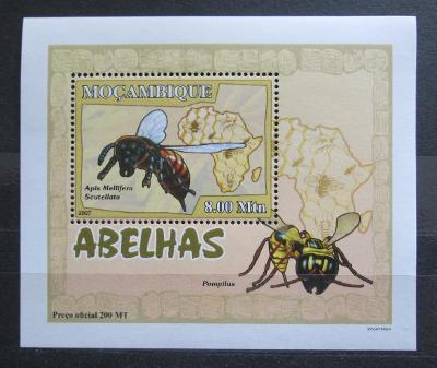 Mosambik 2007 Včely a vosy DELUXE Mi# 2937 Block 2130