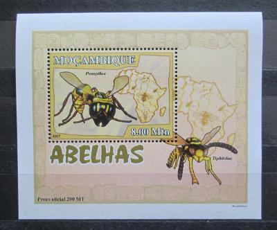 Mosambik 2007 Včely a vosy DELUXE Mi# 2938 Block 2130