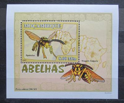 Mosambik 2007 Včely a vosy DELUXE Mi# 2939 Block 2130