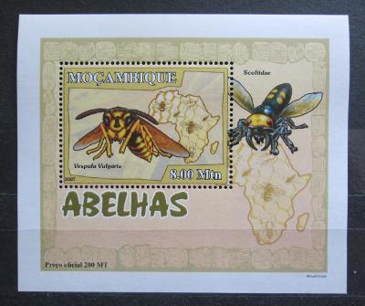 Mosambik 2007 Včely a vosy DELUXE Mi# 2940 Block 2130