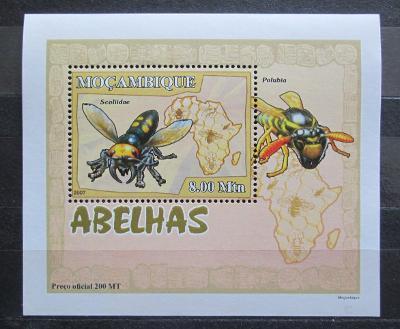 Mosambik 2007 Včely a vosy DELUXE Mi# 2941 Block 2130