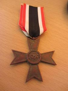 Německo Válečný záslužný kříž bez mečů 1939
