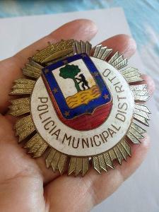 Španělsko Odznak Madridský policista 1950