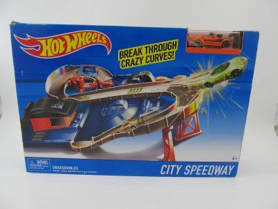 Hot Wheels City Speedway CDJ34 Autíčka autodráha