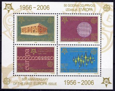 Jugoslávie 2005 **/ Mi. Block 59A , Evropa CEPT , /Z4/