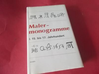 Kniha Maler-monogramme značky,monogramy malířů 15-17 st.!!