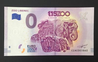0 Euro Souvenir bankovka ZOO LIBEREC 2019 - TOP