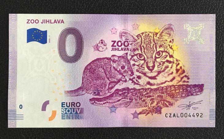 0 Euro Souvenir bankovka ZOO JIHLAVA 2020 - TOP - Bankovky