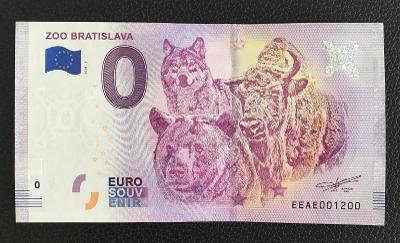 0 Euro Souvenir bankovka ZOO BRATISLAVA 2018 - TOP