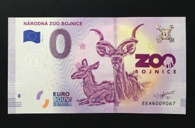 0 Euro Souvenir bankovka NÁRODNÁ ZOO BOJNICE 2019 - TOP