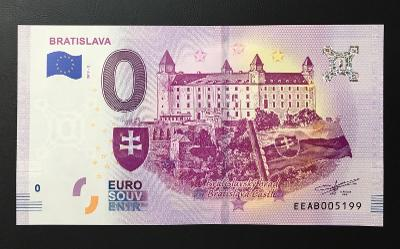 0 Euro Souvenir bankovka BRATISLAVA 2019