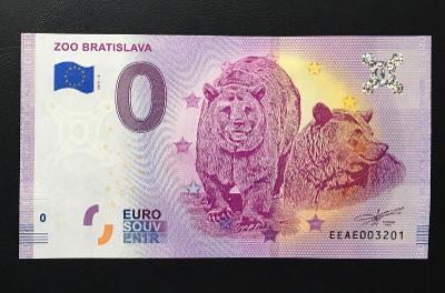 0 Euro Souvenir bankovka ZOO BRATISLAVA 2019 - TOP
