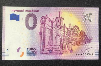 0 Euro Souvenir bankovka PEVNOSŤ KOMÁRNO 2020 - TOP