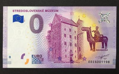 0 Euro Souvenir bankovka STREDOSLOVENSKÉ MÚZEUM 2020 - TOP