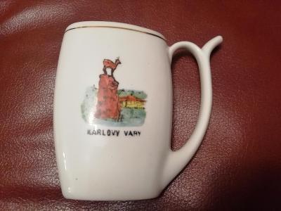 Lázeňský pohárek Karlovy Vary Značený