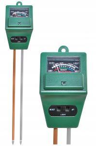 DM181 MĚŘIČ KYSELOSTI A VLHOSTI PÚDY PH METR Tester