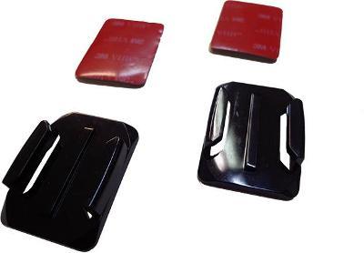 Samolepící držáky pro GoPro prohnuté - černá barva