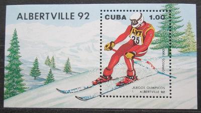 Kuba 1990 ZOH Albertville, lyžování Mi# Block 119 1760