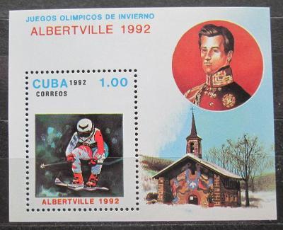 Kuba 1992 ZOH Albertville, lyžování Mi# Block 126 1762