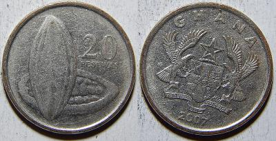 Ghana 20 Pesewas 2007 XF č33862