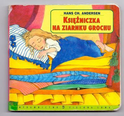 PRINCEZNA NA HRÁŠKU # polské vydání # tvrdá kniha minimum stránek