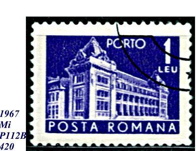 Rumunsko  1967, centrální PÚ