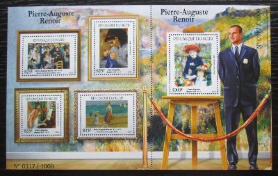Niger 2015 Umění, Renoir Mi# 3702-06 Kat 24€ 1829