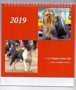2019 KALENDÁŘ CZ Yorkshire Terrier klubu # kalendář se psy