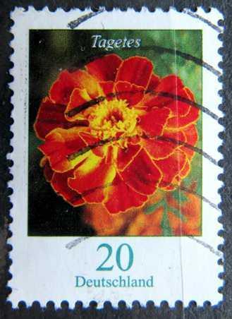 DEUTSCHLAND: MiNr.2471 Tagetes 20c, Flowers Issue 2005