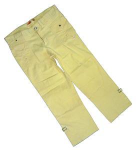 Béžové 7/8 dámské slim kalhoty, vel. 38