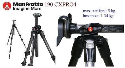 💥 Stativ Manfrotto 190 CXPRO4*Carbon PRO Tripod*nosnost 5Kg*👍TOP