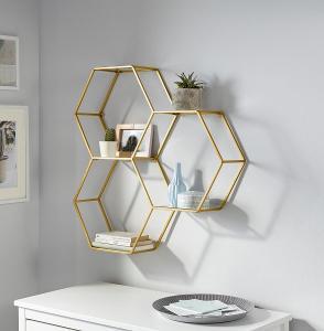 Nástěnná police Hexagon (83173019) _E546