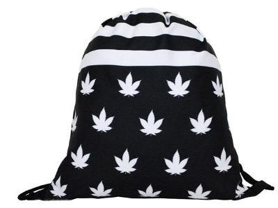 Trendy stahovací batoh batůžek vak s potiskem 3D Marihuana Weed Ganja