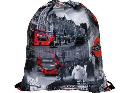 Trendy stahovací batoh batůžek vak s potiskem 3D - London UK Styl
