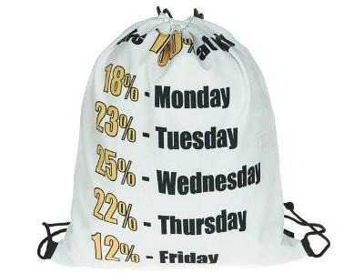 Trendy stahovací batoh batůžek vak s potiskem 3D - 100% my Work