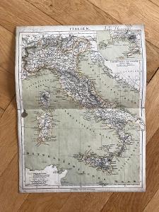 Stará mapa Itálie