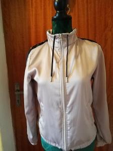 H&M-Sportovní dámská,béžová bunda do pasu s prodyšnou podšívkou,XS/34.