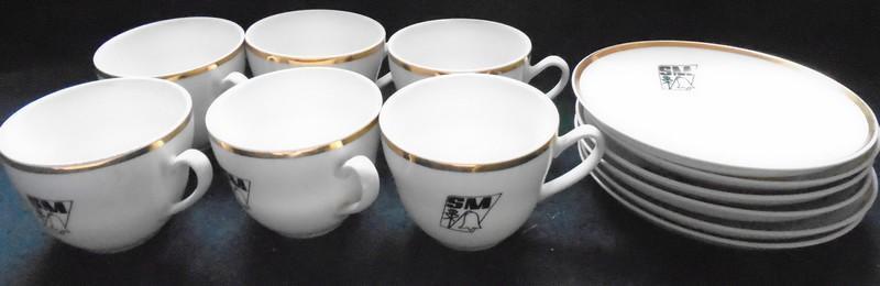 Starý, čajový servis svazu Mládeže....(11524)