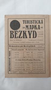 Turistická mapa Bezkyd z roku cca 1920-30
